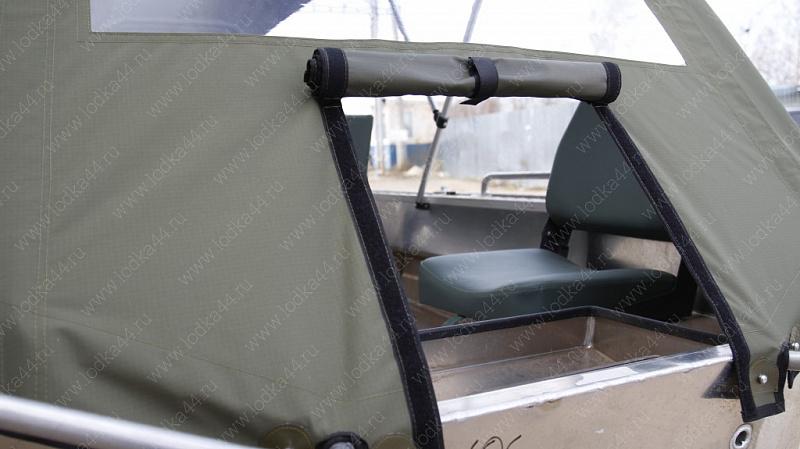 Смотреть видео Тент ходовой и дуги на лодку «Wellboat-37» онлайн, скачать на мобильный.